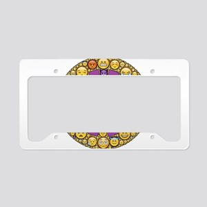 Circle of Emotions License Plate Holder